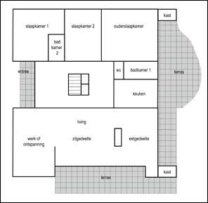 Klik voor een vergroting in pdf with vrijstaande woning for Praktische indeling huis